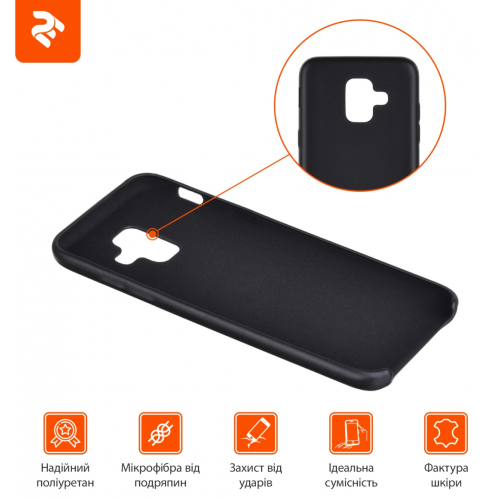 Фото Чехол 2E для Samsung Galaxy A6 2018 PU Case (2E-G-A6-MCPUB) Black