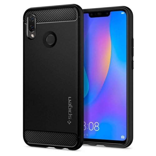 Фото Чехол Spigen для HUAWEI Nova 3i/P smart+ Rugged Armor Extra (L32CS24984) Black