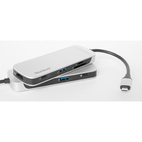 Фото USB-хаб Kingston USB 3.1 Type-C + HDMI + card reader (C-HUBC1-SR-EN) Black