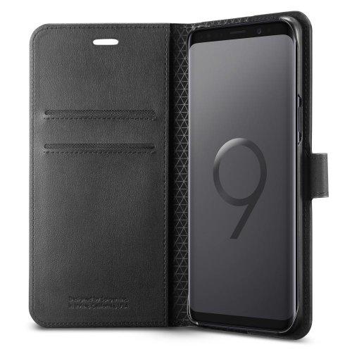 Фото Чехол Spigen для Samsung Galaxy S9+ Wallet S (593CS22957) Black