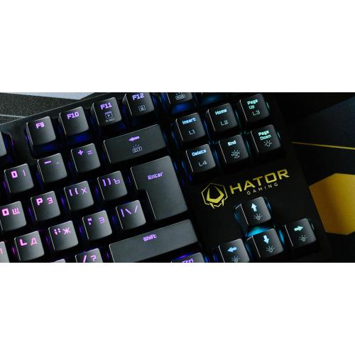 Фото Игровая клавиатура HATOR Rockfall TKL Kailh Optical Black RU (HTK-620) Black
