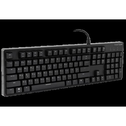 Фото Игровая клавиатура HATOR Rockfall Outemu Mechanical Switches Red RU (HTK-606) Black