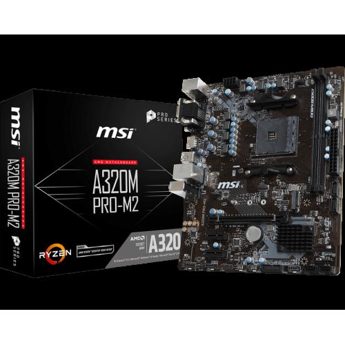 Фото Материнская плата MSI A320M PRO-M2 (sAM4, AMD A320)