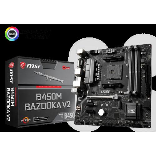 Фото Материнская плата MSI B450M BAZOOKA V2 (sAM4, AMD B450)
