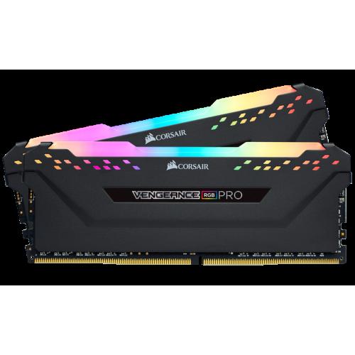 Фото ОЗУ Corsair DDR4 16GB (2x8GB) 2666Mhz Vengeance RGB Pro (CMW16GX4M2A2666C16) Black