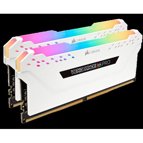 Фото ОЗУ Corsair DDR4 16GB (2x8GB) 3000Mhz Vengeance RGB Pro (CMW16GX4M2C3000C15W) White
