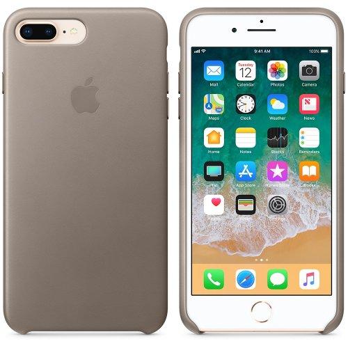 Фото Чехол Apple iPhone 8/7 Plus Leather Case (MQHJ2) Taupe