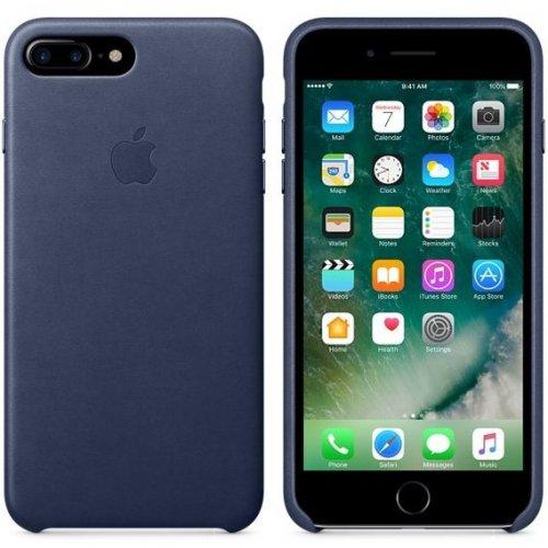 Фото Чехол Apple iPhone 8/7 Plus Leather Case (MQHL2) Midnight Blue