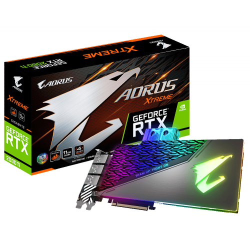 Фото Gigabyte GeForce RTX 2080 Ti AORUS XTREME WATERFORCE WB 11264MB (GV-N208TAORUSX WB-11GC)
