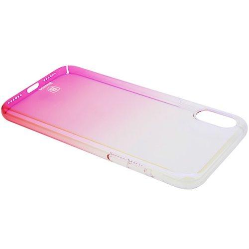 Фото Чехол Baseus для Apple iPhone X Glaze (WIAPIPHX-GC04) Transparent Pink