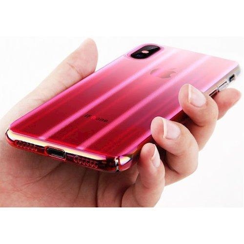 Фото Чехол Baseus для Apple iPhone X Aurora (WIAPIPHX-JG04) Transparent Pink