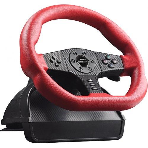 Фото Игровые манипуляторы SPEEDLINK CARBON GT Racing Wheel PC/PS3 (SL-6694-RD) Red/Black