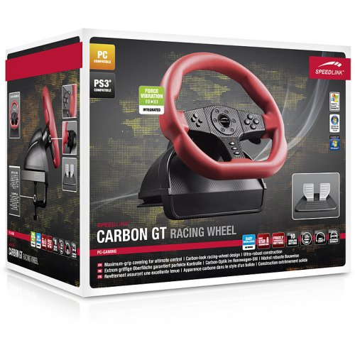 Фото Игровые манипуляторы SPEEDLINK CARBON GT Racing Wheel PC/PS3 (SL-6694-RD) Red/Black