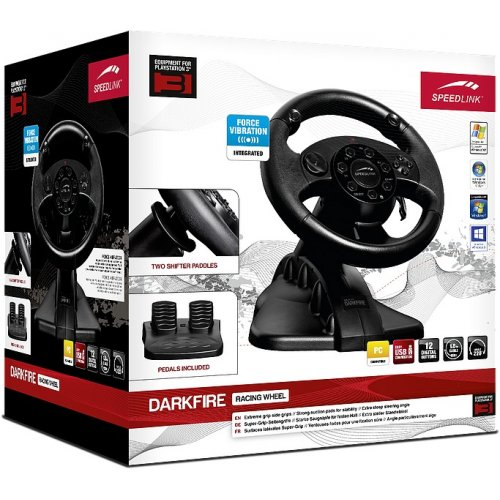 Фото Игровые манипуляторы SPEEDLINK Darkfire Racing Wheel PC/PS3 (SL-4484-BK) Black