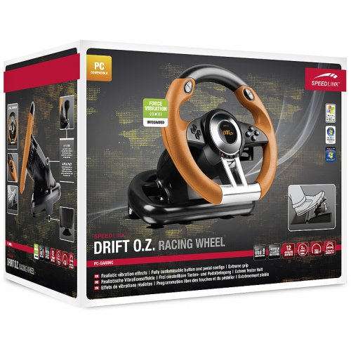 Фото Игровые манипуляторы SPEEDLINK DRIFT O.Z. Racing Wheel PC (SL-6695-BKOR) Black/Orange