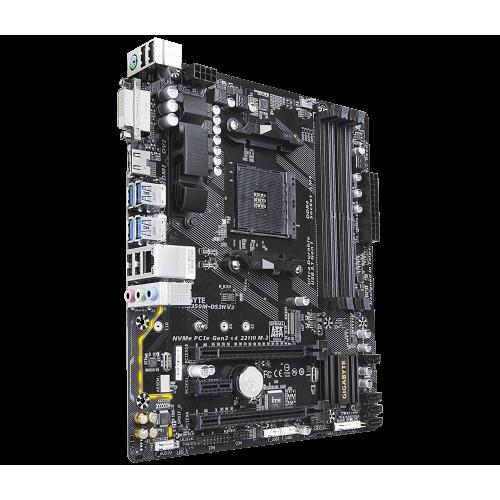 Фото Материнская плата Gigabyte GA-AB350M-DS3H V2 (sAM4, AMD B350)
