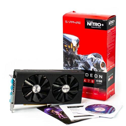 Фото Видеокарта Sapphire Radeon RX 470 NITRO+ 4096MB (11256-01-20G SR) Seller Recertified