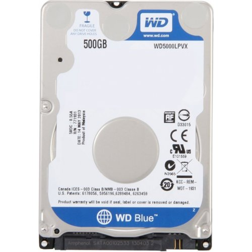 Фото Жесткий диск Western Digital Blue Mobile 500GB 8MB 2.5