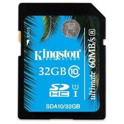 Фото Карта памяти Kingston SDHC 32GB Class 10 UHS-I Ultimate 60MB/s (SDA10/32GB)