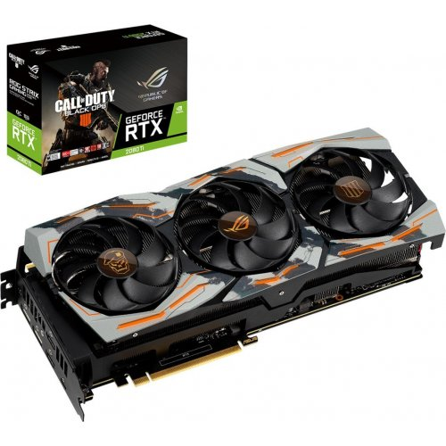 Фото Видеокарта Asus GeForce RTX 2080 Ti Call of Duty: Black Ops Edition 11264MB (COD-BO4-ROG-STRIX-RTX2080TI)