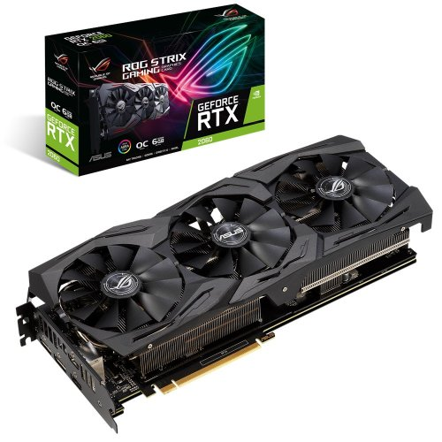 Фото Видеокарта Asus ROG GeForce RTX 2060 STRIX OC 6144MB (ROG-STRIX-RTX2060-O6G-GAMING)