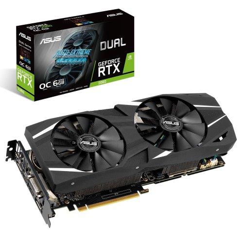 Фото Видеокарта Asus GeForce RTX 2060 Dual OC 6144MB (DUAL-RTX2060-O6G)