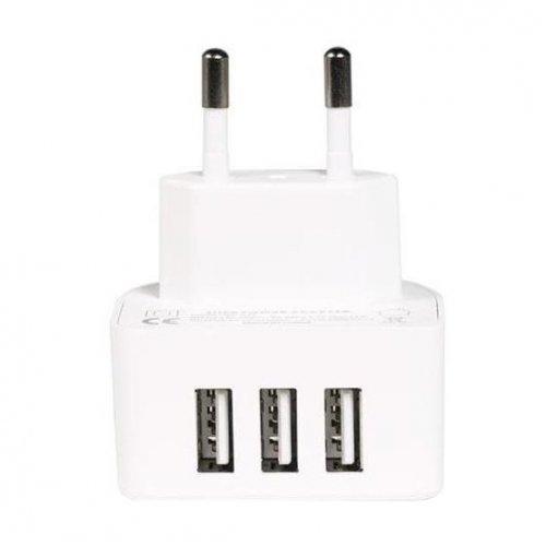 Фото Сетевое зарядное устройство Remax Charger Moon 3.1A 3 USB RP-U31 EU White
